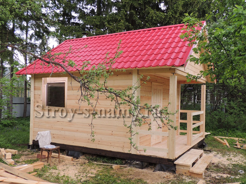 Садовый домик 4х4 с верандой своими руками